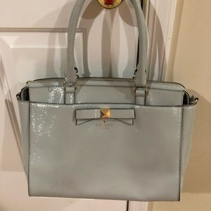Kate spade patent leather handbag with bow front